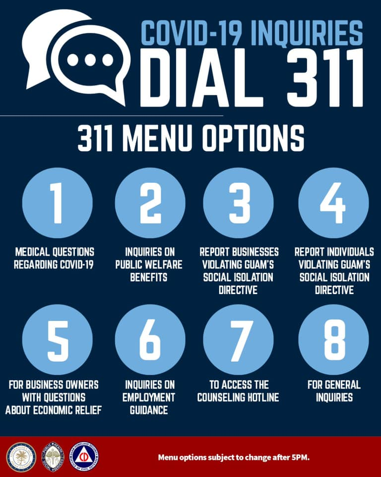 311 Menu Options